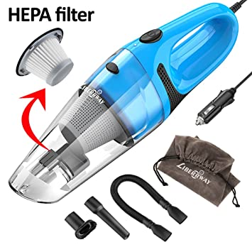 LIBERRWAY Car Vacuum Cleaner High Power DC 12v Portable Handheld Wet Dry Auto For
