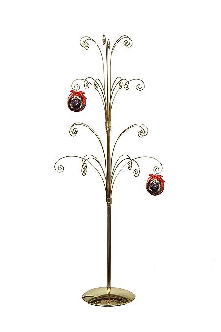 Hohiya Metal Christmas Ornament Display Easter Egg Tree Stand Ball Glass Ornaments 36inch Gold