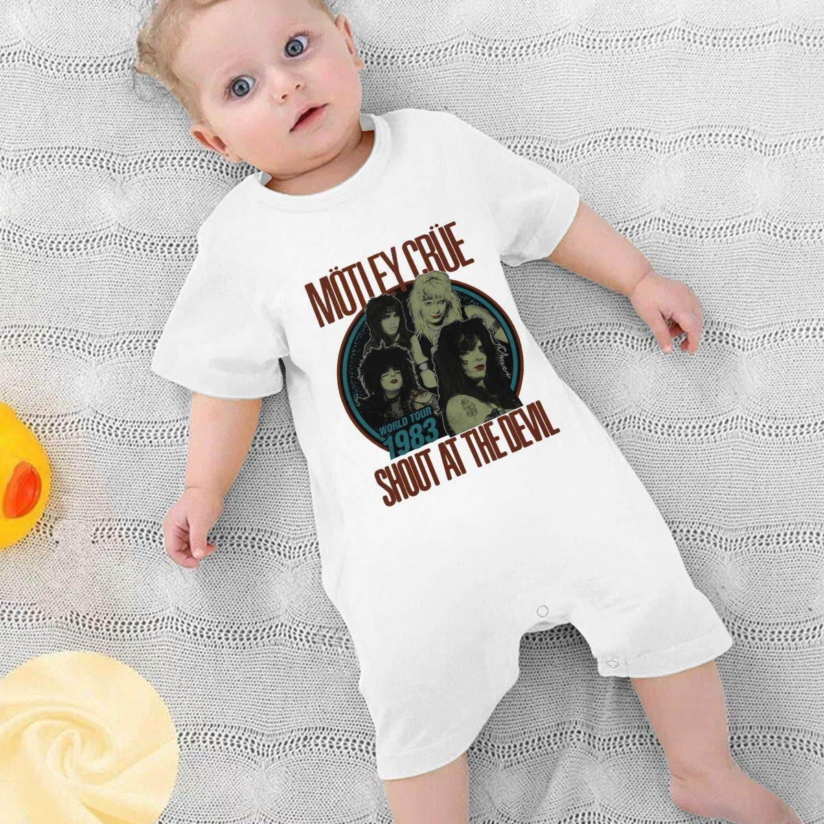 HGJLTY Motley Crue Baby Jumpsuit Boys Girls 100/% Cotton Short Sleeve Rompers Double Print