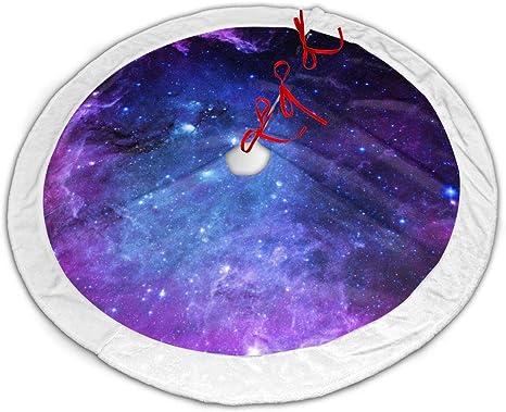 CZLXD - Falda para árbol de Navidad, diseño de Galaxia, Color Azul ...