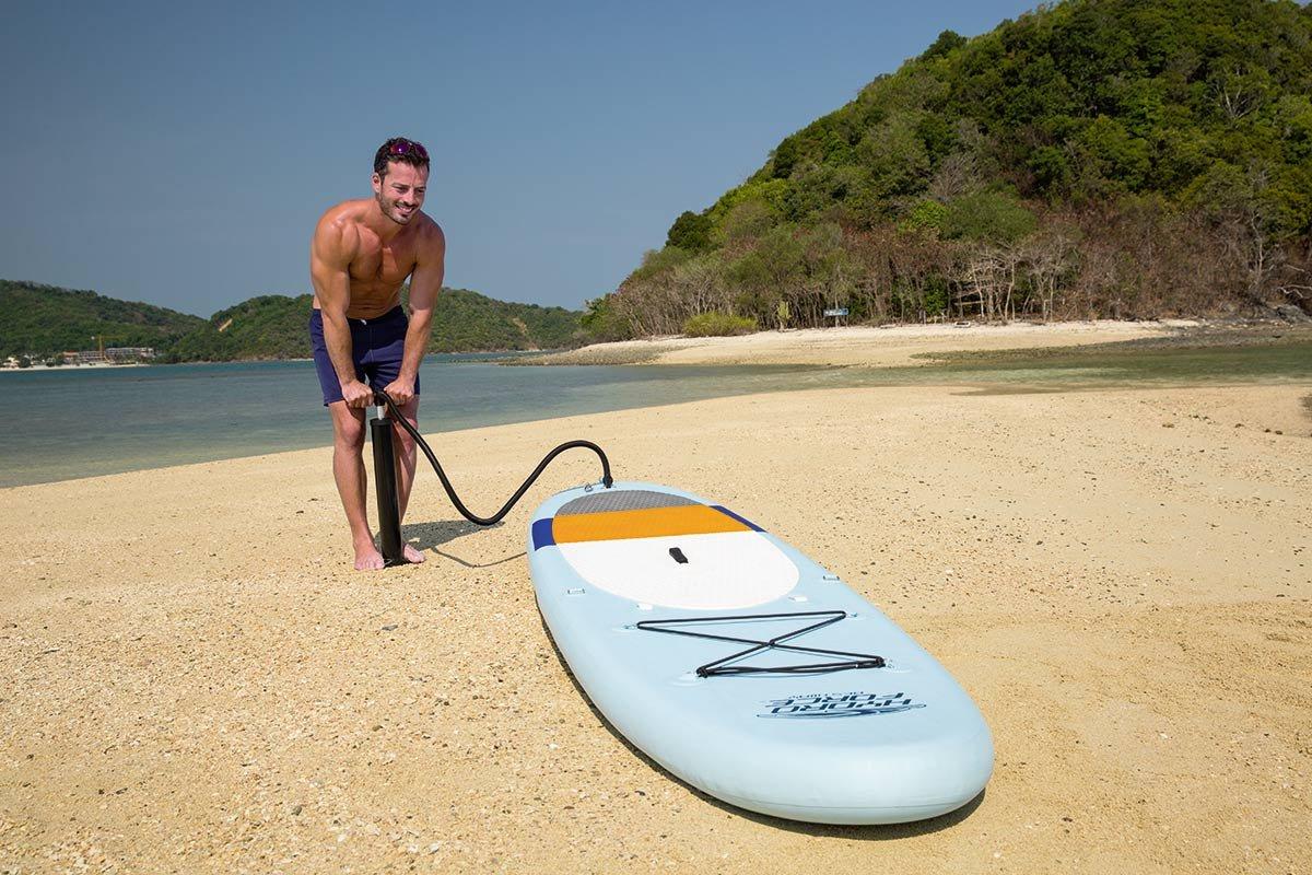 Bestway 65079 -Tabla Paddle Surf Bestway Coast Liner SUP Lite (320 x 81 x 12 cm) con remo largo de aluminio, inflador, y bolsa de transporte: Amazon.es: ...