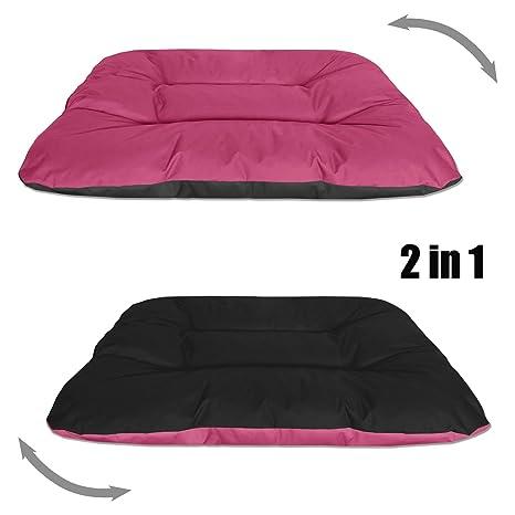 BedDog REX 2en1 rosa/negro XXL aprox. 120x100x14cm colchón para perro, 9 colores