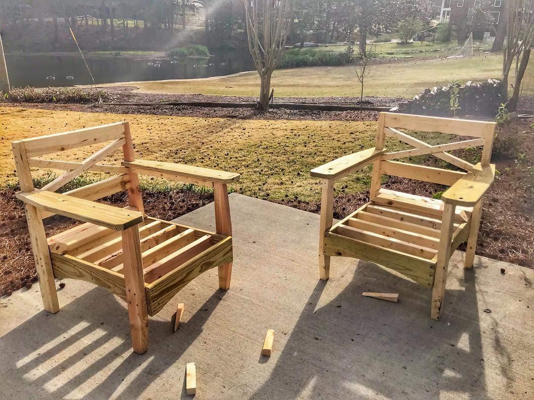 Amazon Com Diy Outdoor Patio Furniture Rustic Modern