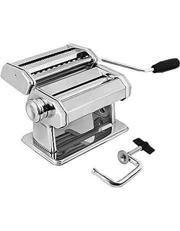 AMOS ® 3 en 1 Máquina Profesional de Acero Inoxidable para Hacer Pasta Fresca Lasaña Espagueti