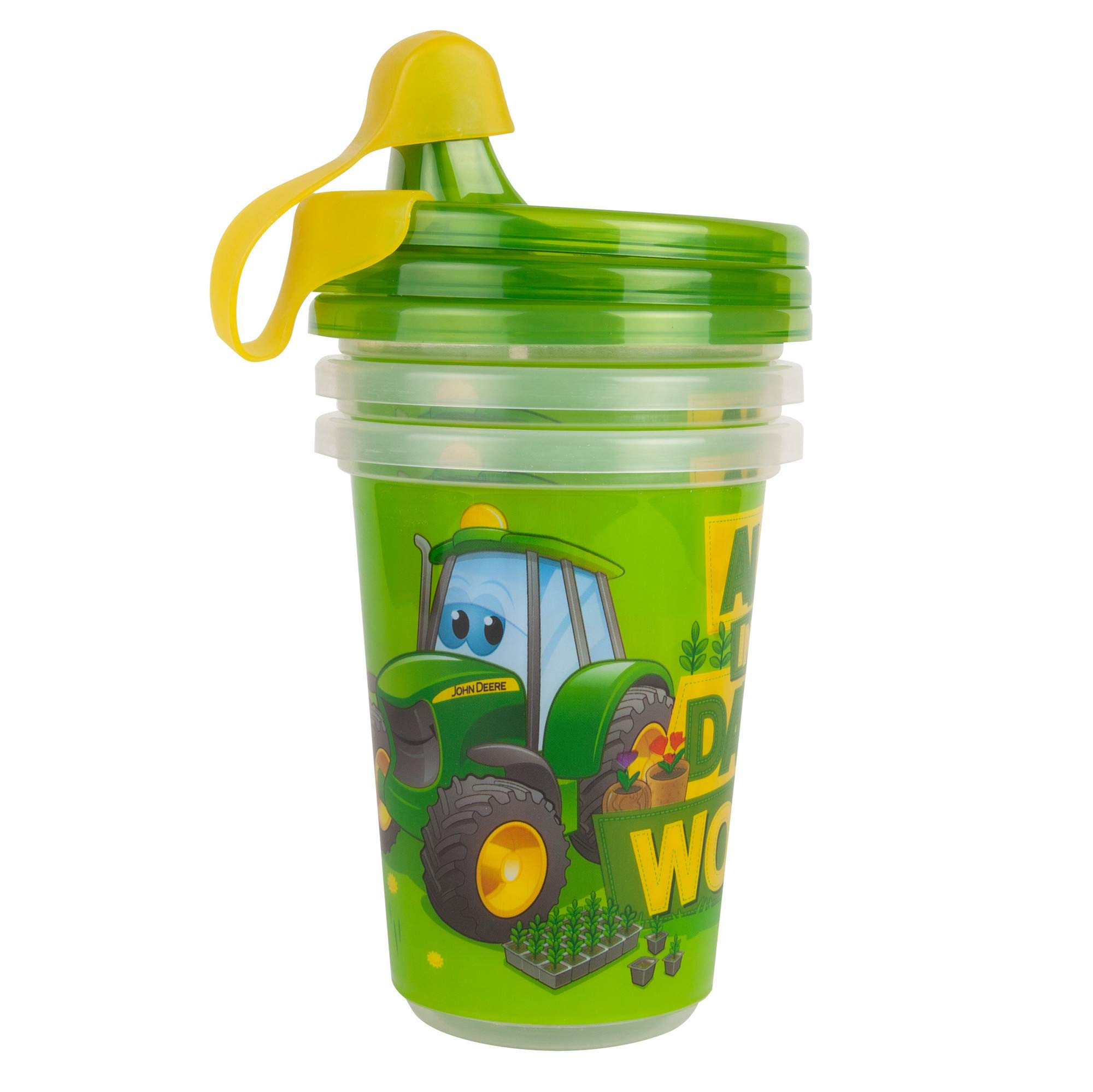 The First Years Take & Toss John Deere Sippy Cups, John Deere, 3 Pack