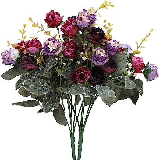7 Pc//bunch Artificial Flowers Orchid Silk Flower Party Decor Luxury  Vogue