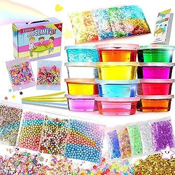 DIY Slime Kit Schleim Selber Machen Kinder Spielzeug mit 12 Farben Crystal Clay