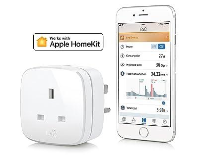 Elgato Eve Energy (UK) - Interruptor y medidor de Potencia con tecnología Bluetooth de