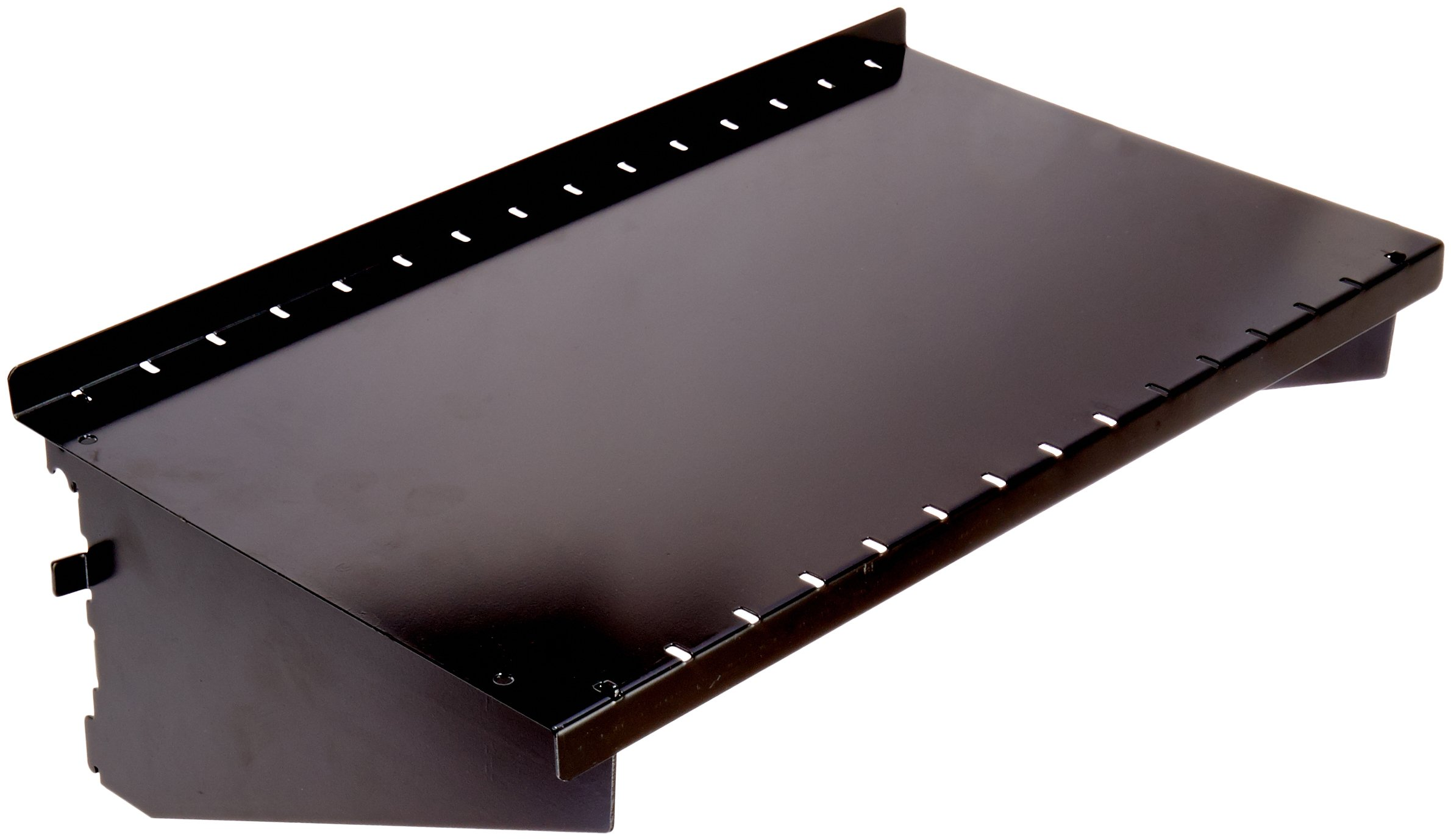Wall Control ASM-SH-1609 B 9'' Deep Pegboard Shelf Assembly for Wall Control Pegboard Only, Black