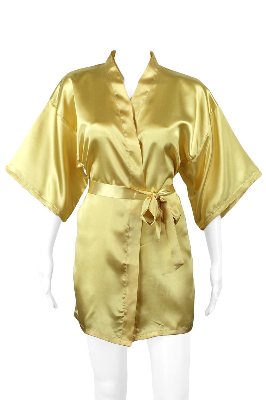 Evolatree Women's Silky Satin Robe, Short 16-005-WRobe-3
