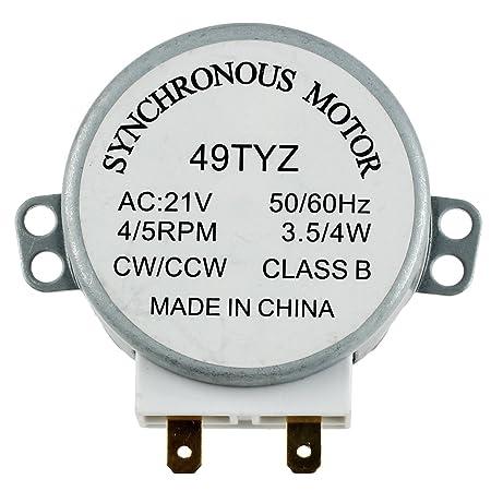 TOOGOO(R) Motor sincronico de plato giratorio del horno de onda ...