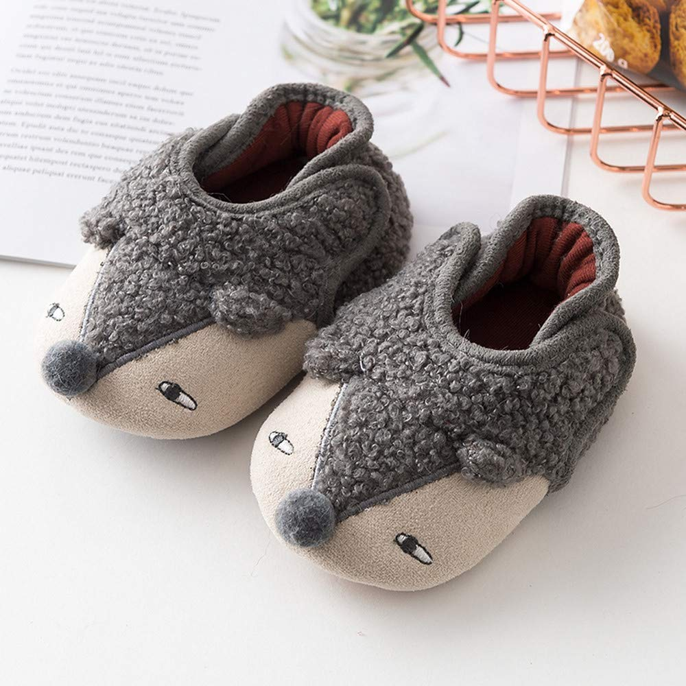 Kids Shoes Baby Boy Girl Cartoon Cute Expression Shoe Winter Toddler Shoes Hedgehog Shoes