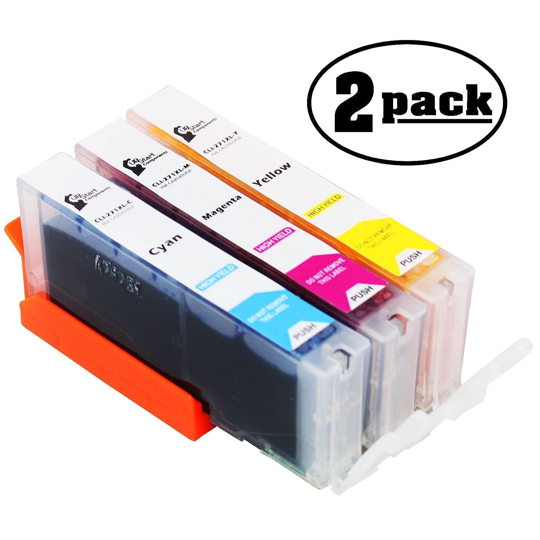 2 - Pack交換Canon Pixma mg7720ワイヤレスホワイトプリンタインクカートリッジ – シアン、マゼンタ&イエロー互換Canon cli-271 XLインクタンク(Canon 271 ) B073ZM5PQQ