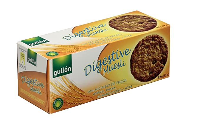 Gullón Digestiva Muesli Galleta Desayuno y Merienda, 365 gr
