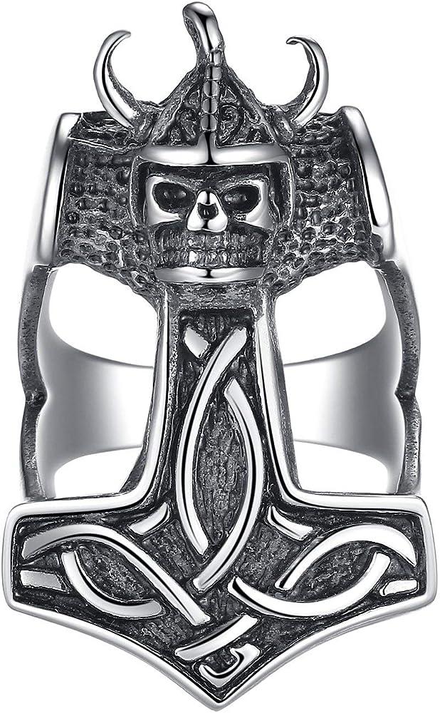 Chevali/ère viking en acier inoxydable avec n/œud celtique