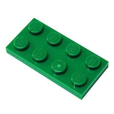 LEGO Parts and Pieces: Green 2x4 Plate x50: Toys & Games