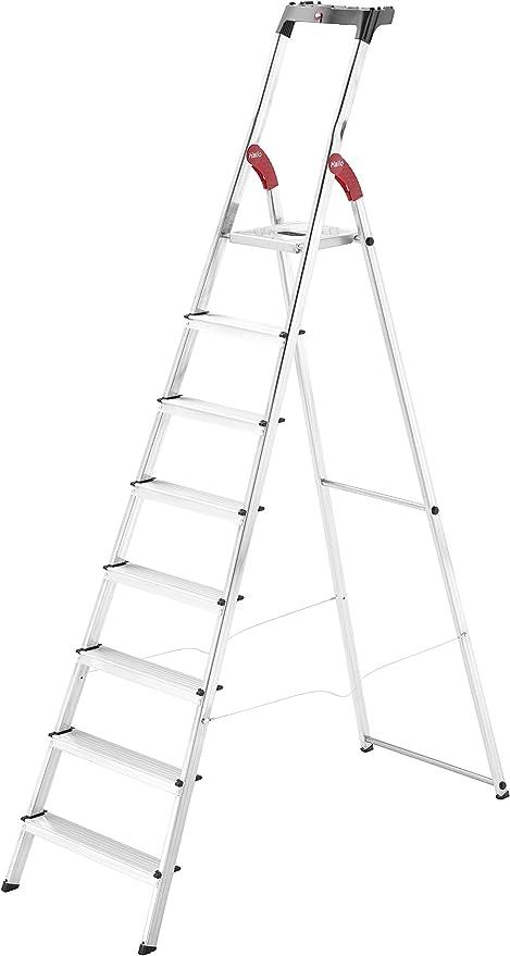 Hailo 8 pasos escalera aluminio art.l60: Amazon.es: Jardín