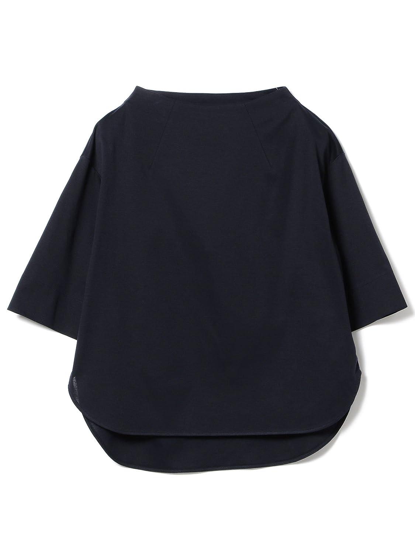 (デミルクスビームス) Demi-Luxe BEAMS カットソー ボトルネック 半袖プルオーバー レディース B07F27VQ37 One Size ネイビー ネイビー One Size
