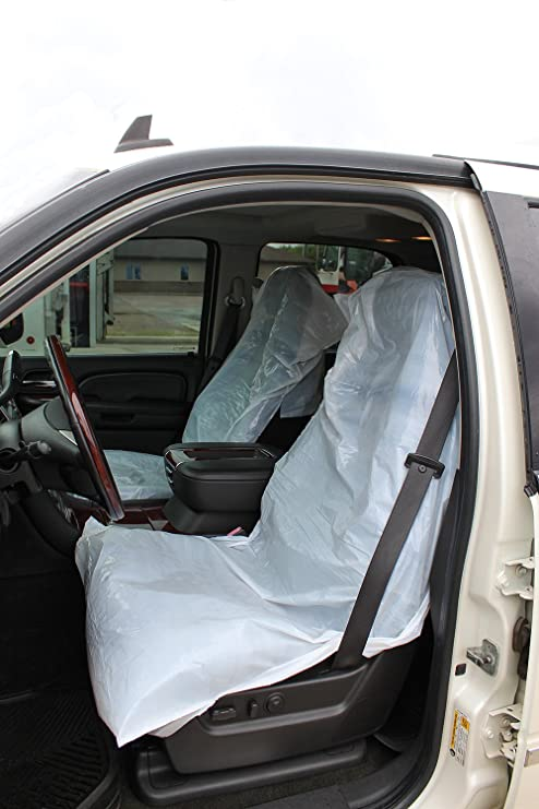 Admirable Abn Waterproof Seat Covers Auto Seat Protector 250Pk 31 5 X 51 2 Inch 20 Mic Car Chair Cover Plastic Seat Covers Unemploymentrelief Wooden Chair Designs For Living Room Unemploymentrelieforg