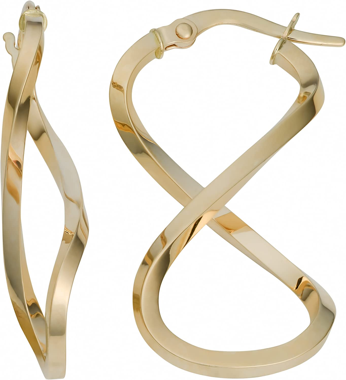 Infinity 14k Solid Gold Threader Earring
