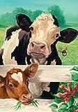 Toland Home Garden Farm Buddies 12.5 x 18 Inch Decorative Country Barnyard Animal Cow Calf Garden Flag