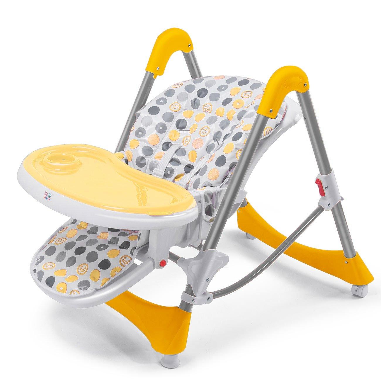 Baby Vivo Baby Kinder Hochstuhl Babyhochstuhl H/öchenverstellbar Liegefunktion Tippy Dunkelrot