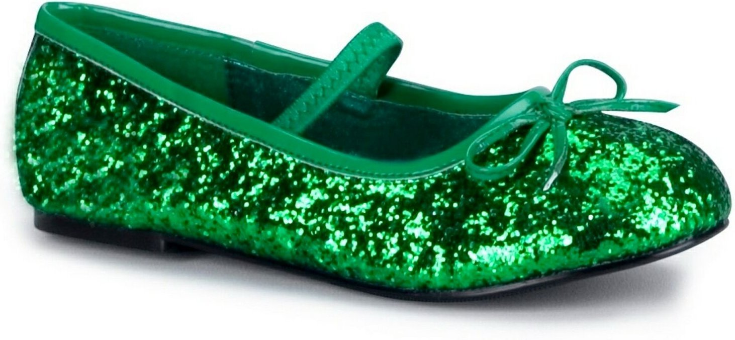 Pleaser Shoes 194424 Green Sparkle Flat Shoes Child - Size 13-1