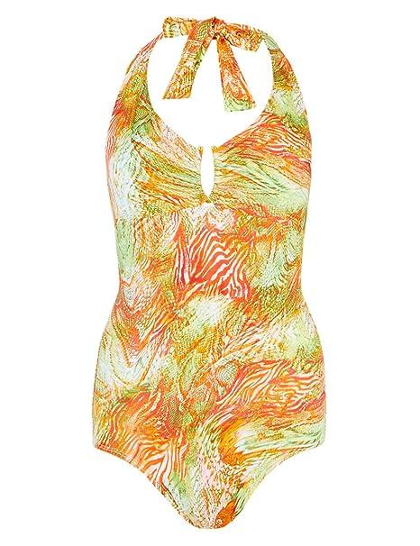 3bef0051185 M&S Secret Slimming Bandeau Padded Swimsuit Slim Waist Panel Tummy Control  Swimming Costume Marks & Spencer