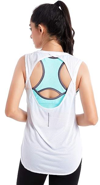 Amazon.com: FITTIN - Camiseta de entrenamiento para mujer ...