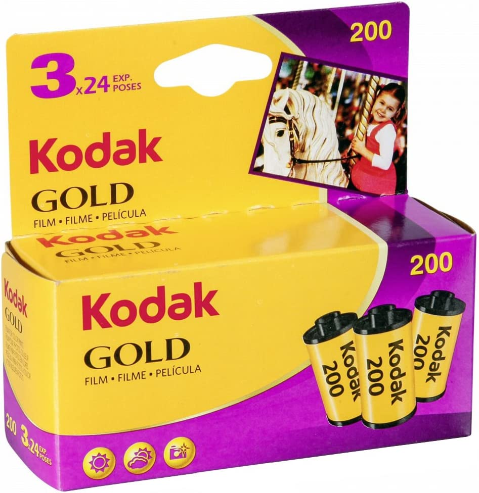 Kodak KOD102010 - Película Negativo Color (35mm, Gold 200-24 tripack)
