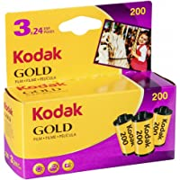 Kodak GOLD 200 Color Negative Film (35mm Roll Film, 24 Exposures, 3-Pack) - 6033971,Purple, Yellow