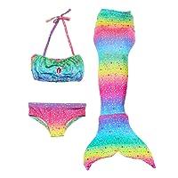 Le SSara Ragazze Cosplay Costumi da bagno Mermaid Shell costume da bagno 3pcs insiemi del bikini