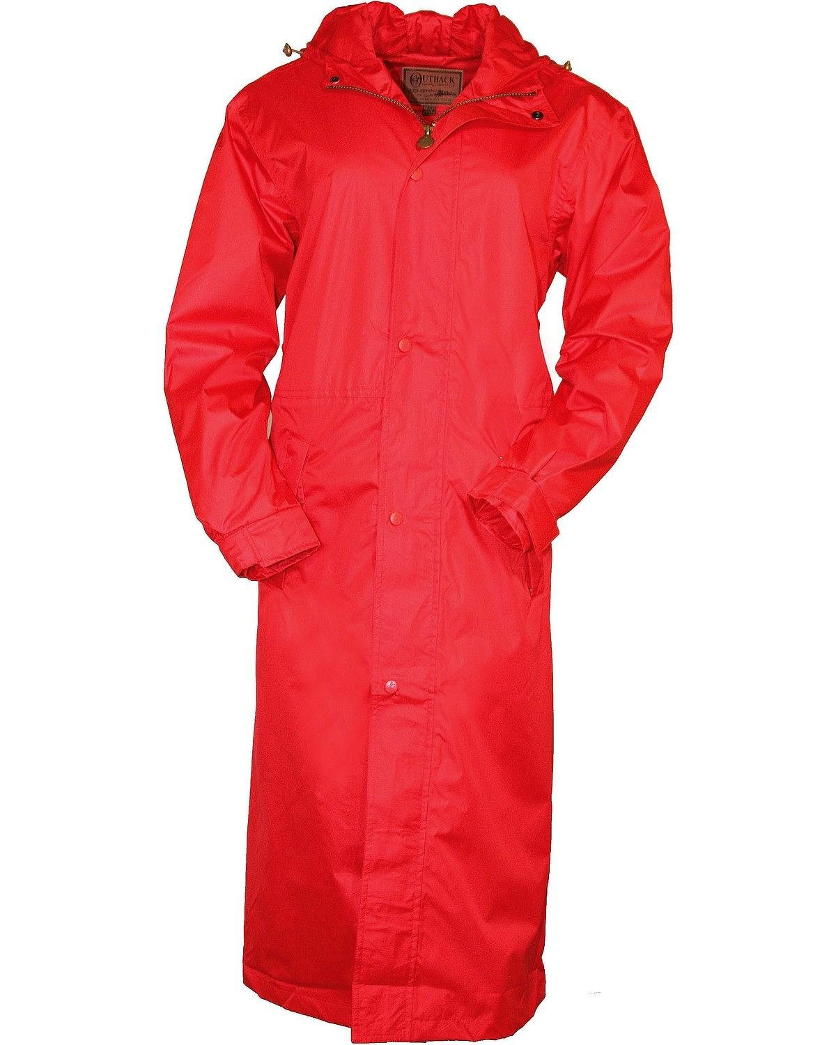 Outback Trading Co Men's Pak-A-Roo Waterproof Duster Red XXX-Large