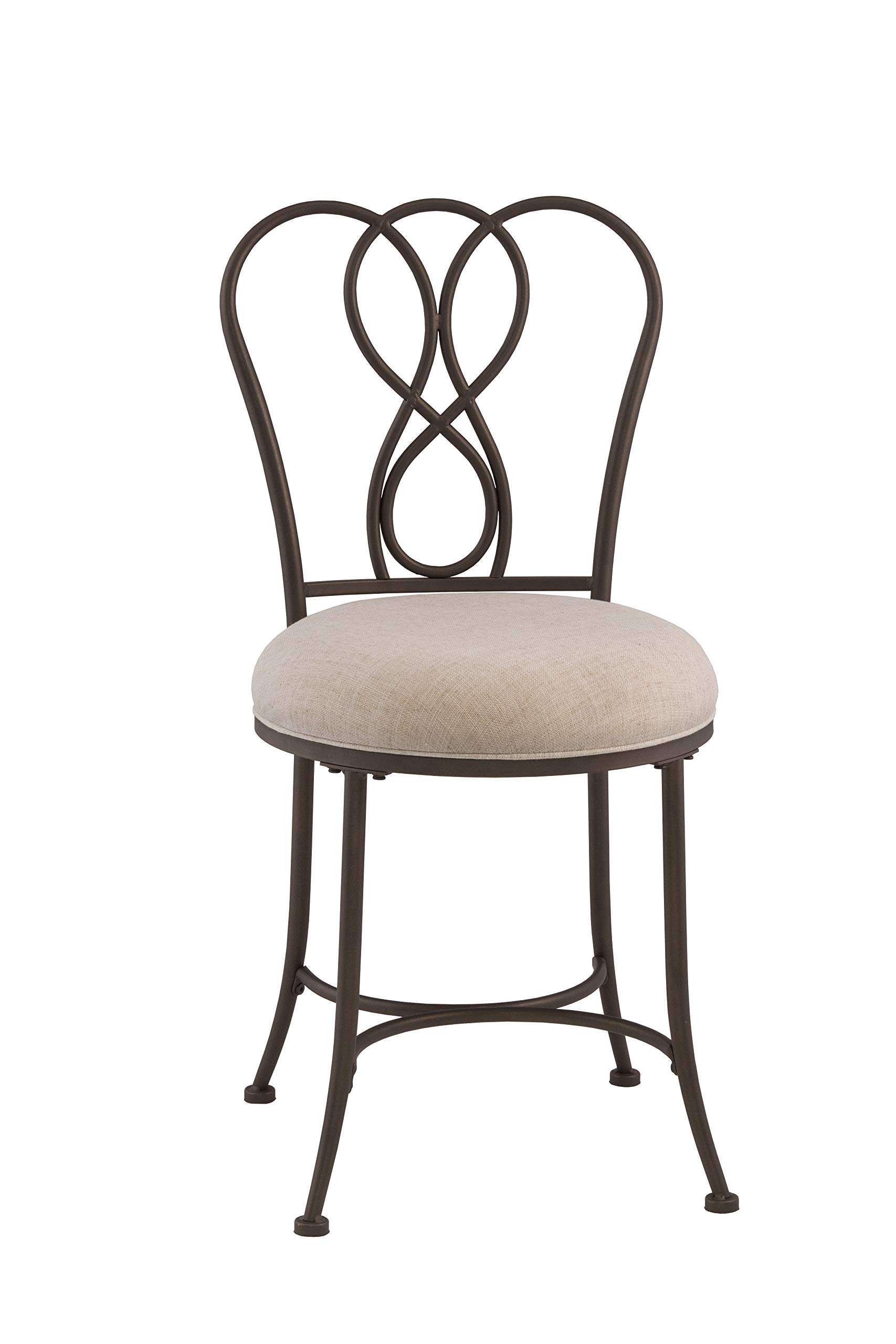 Hillsdale Furniture  Hillsdale Christina Vanity Stool, Bronze