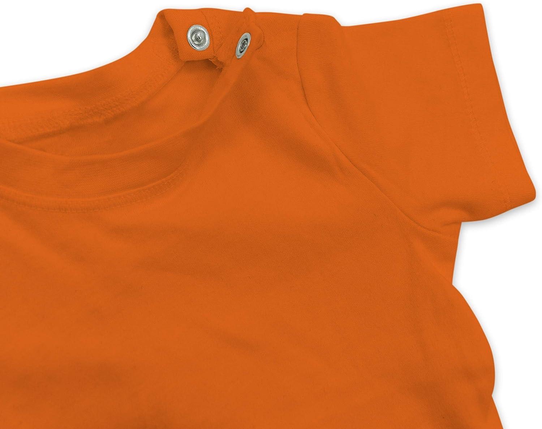 Geschwisterliebe Baby Baby T-Shirt Kurzarm Little Sister mit Blumenkranz