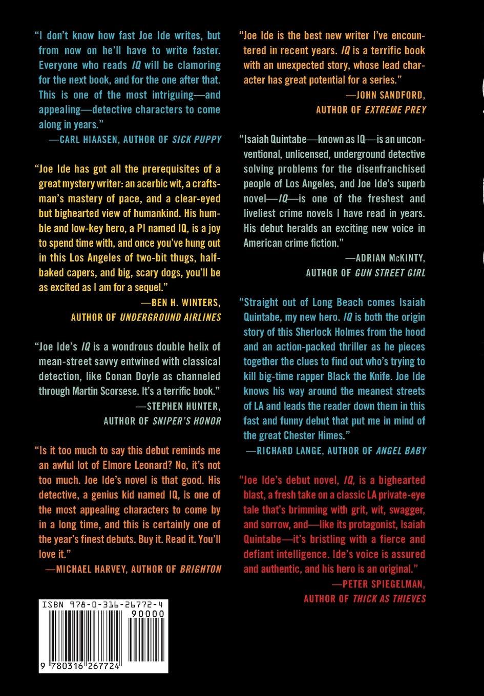 Amazon com: IQ (An IQ Novel) (9780316267724): Joe Ide: Books