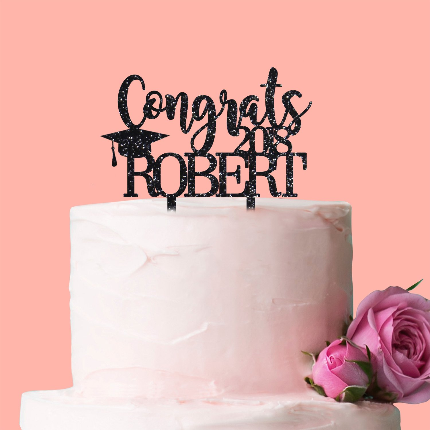 Fancy Pants Store Personalised Cake Topper: Congratulations [Name ...