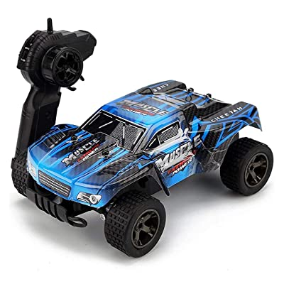 Rabing Remote Control Terrain RC Cars Vehicle 1: 18 Scale 2.4Ghz 20km/H RC Car High Speed Off-Road Truck, with Rechargeable Batteries: Toys & Games
