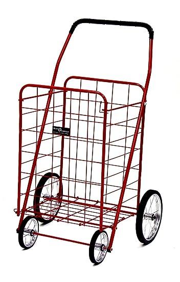 Amazon.com: Jumbo Carrito de la compra (Color=ROJO ...