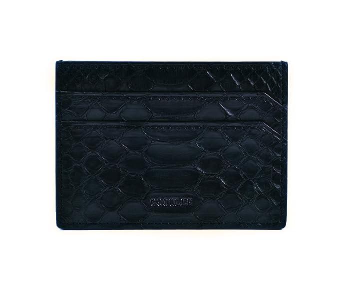 39c24ef1bc63 Card holder python leather wallet card case leather pocket wallet luxury men's  cardholder black wallet business