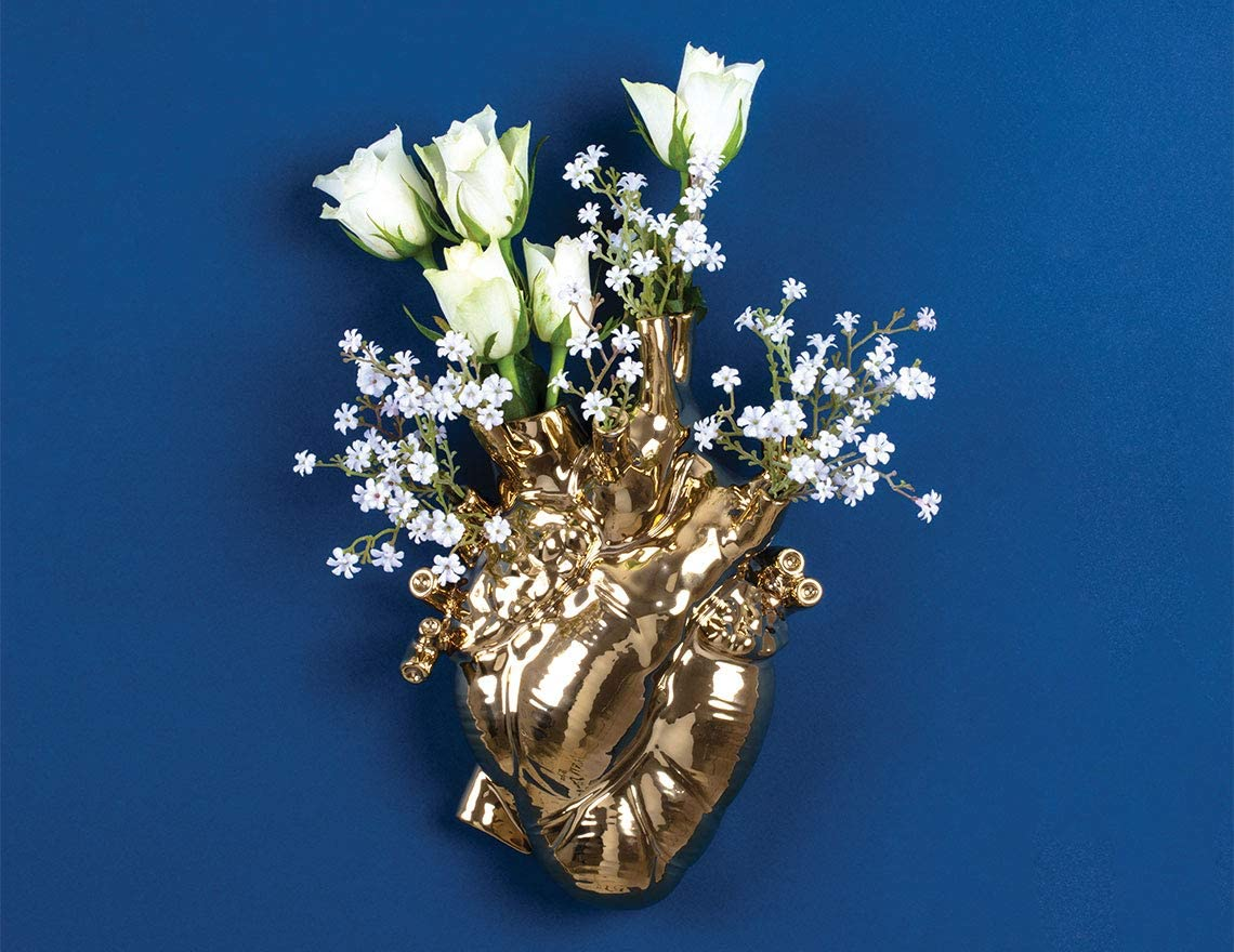 Seletti Love in Bloom Gold Vase