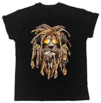 6c2ad59ca6 RASTA REGGAE LION T-SHIRT SMOKING DOPE WEED CANNABIS MARIJUANA BOB MARLEY  (Medium): Amazon.co.uk: Clothing