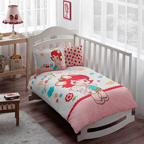 Baby Home 100 Coton Parure Strawberry Shortcake De Qualite Pour