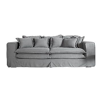 Xxxl Hussensofa Cloud Grau Leinen Stoff Hussen 230cm Sofa