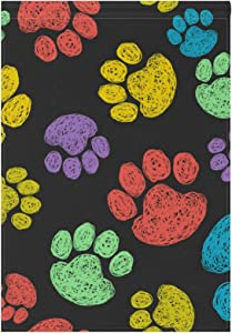 Hokkien BlueViper Cute Colorful Doodle Paw Prints Garden Flag Double Sided 12 x 18 Inch, Yard Flags, Decorative Small Garden Flags, Outdoor Lawn and Garden Décor