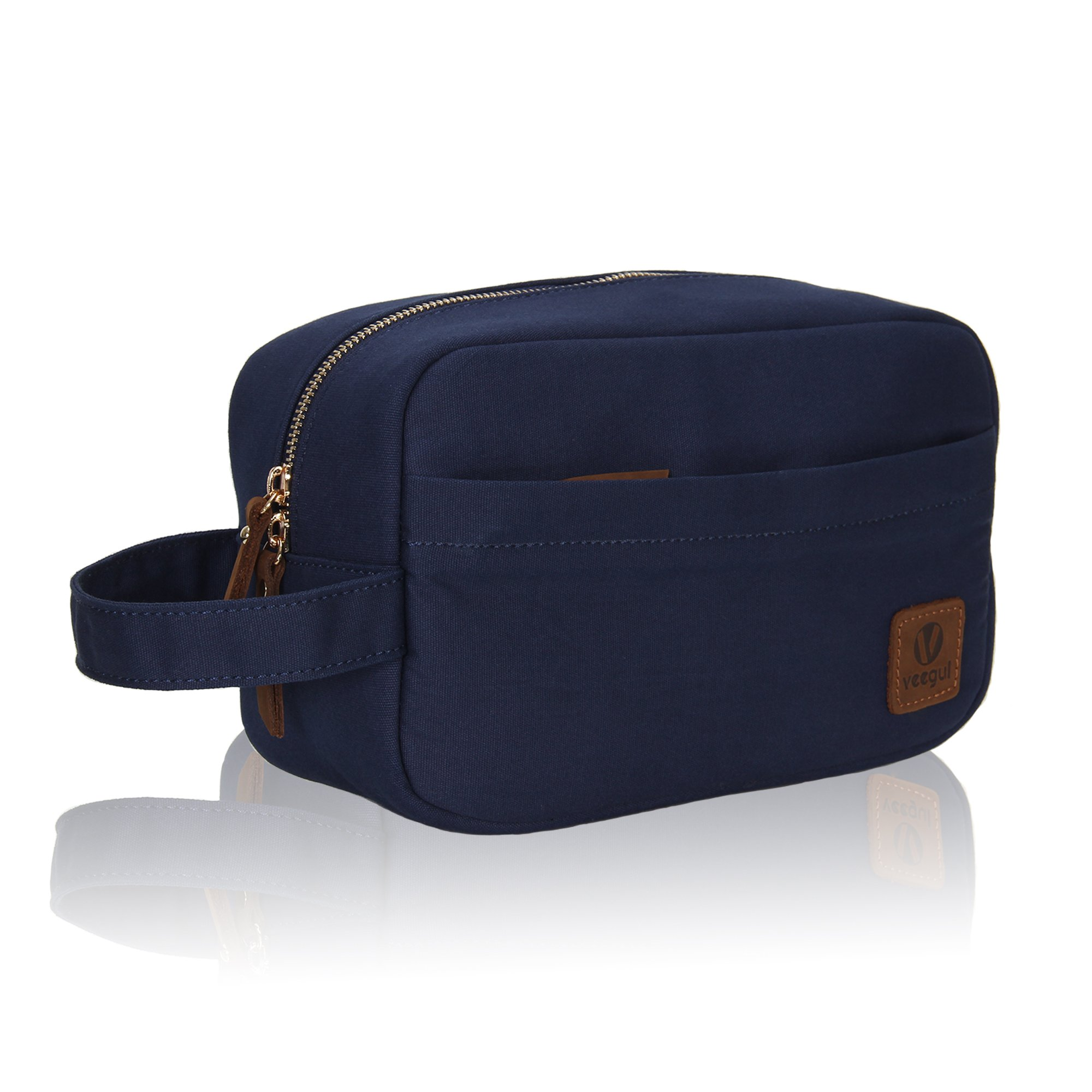 a0914354e1e KIPOZI PU Leather Travel Bag,Shaving Dopp Kit bag for Man,Toiletry Bag  Waterproof