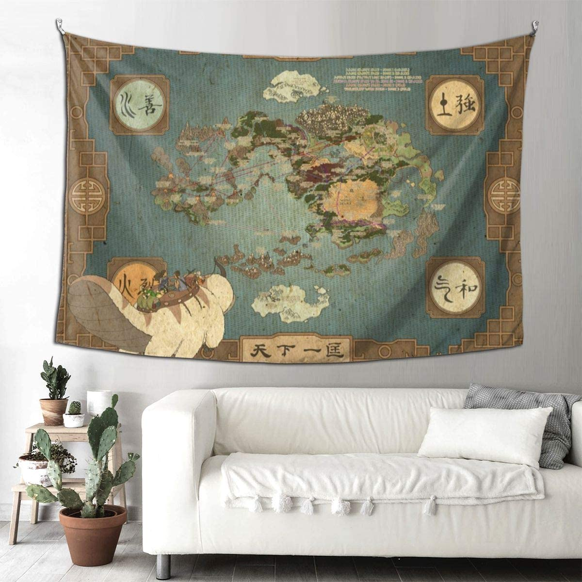 HUADIZ Avatar The Last Airbender Tapestry Wall Hanging 3D Print Boutique Art Blanket for Living Room Bedroom Dorm Decor 90×60 in