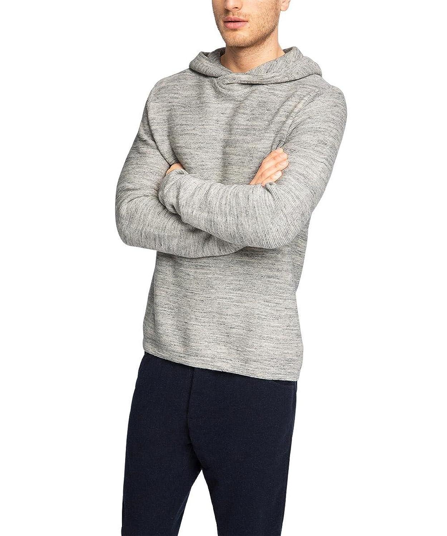 ESPRIT Men's Hood Doubfac Long Sleeve T-Shirt