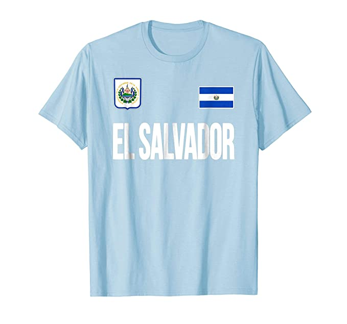 Mens El Salvador T-shirt Flag Soccer Football Futbol Fan Jersey 2XL Baby Blue