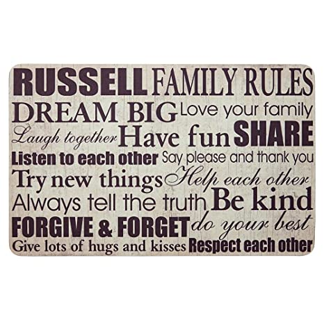 amazon com personal creations personalized gifts family rules